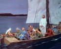 السيد المسيح مع التلاميذ في السفينة